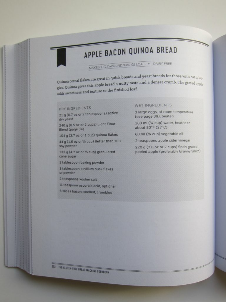 The Gluten-Free Bread Machine Cookbook - Apple Bacon Quinoa Bread Recipe
